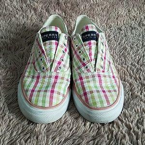 Sperry Topsiders, Plaid Sneakers Sz 7